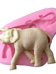 3D Animal Silicone Fondant Mold Cake Decorating Mould Silicone Elephant Mold For Cake Chocolate  Sugar Saop