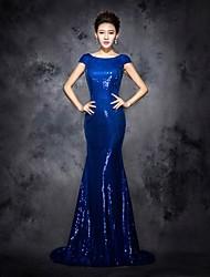 Prom Dress Scoop Floor-length Sequins Dress