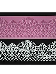 quatre c couleur gâteau pad tapis de dentelle de silicone cuisson de décoration de fondant au moule rose