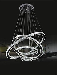 LED Crystal Chandelier Lihting Transparent Crystal Round 4 Rings 20CM Plus 40CM Plus 60CM Plus 80CM Lamps Fixtures