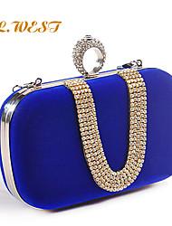 L.WEST® Women's Diamonds Candy Color Evening Bags