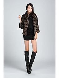 Fur Coats 3/4 Sleeve Faux Fur Jackets As Picture