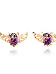 Women's Fashion High Quality Owl Zircon Earring