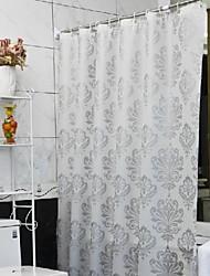 """European Floral PEVA Shower Curtain W71"""" x L71"""""""
