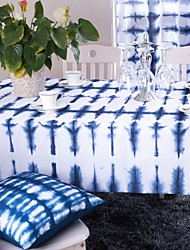 Blue Printed Table Cloth