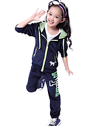 Girl's Velvet Hoodie Sport Suits