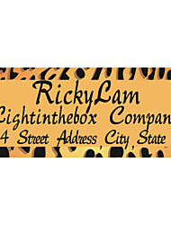 Personalized Product Labels / Address Labels Yellow Leopare Print Wild Style Pattern White Film Paper