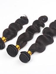 3Pcs/lot 24inch Brazilian Virgin Hair Natural Colour Loose Wave Hair Weaving Human Hair Bundles