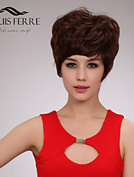Short Capless Human Hair Wigs with Side Bang