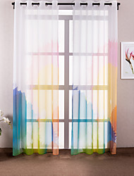 (One Panel) Modern Novelty Polyester Print Curtain