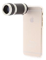 iPhone6 telescopio teléfono móvil 8x para iPhone6 con el caso trasero