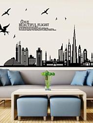 высотных зданий и рекламных листовок в форме стикер стены
