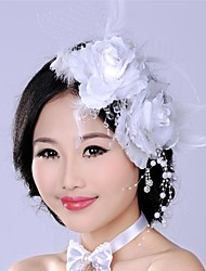 Luxurious Retro Exaggerated  Rose Flower Bridal Headpiece