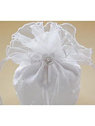 Delicate Polyester Wedding Bridal Hand Bag With Imitation Pearl