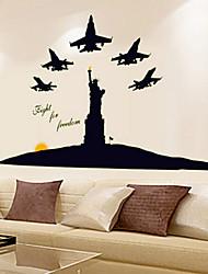 lumineuse environnementale amovible la statue de la liberté sticker mural PVC
