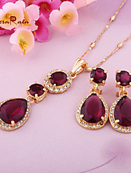 WesternRain Wholesale Gold Jewellery Zircon Necklace Bridal Fantasies Long Drop Jewelry In Turkey