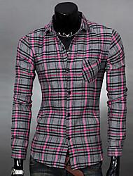 zj.sm мужская все соответствует проверка рубашка с длинным рукавом