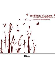 cañas de pvc pegatinas de pared de otoño naturales