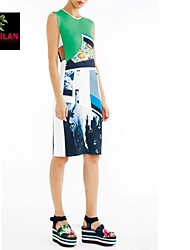 YIMILAN® Women's The 2015 Explosion Models Of Europe And The United States Selling Printed Dress