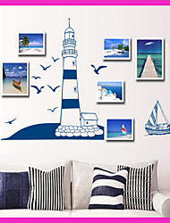 autocollant environnement mural PVC amovible méditerranéen