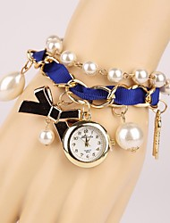Women's Butterfly and Pearl Bracelet Watch
