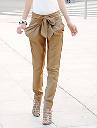 Women's Solid Beige/Black Harem Pants
