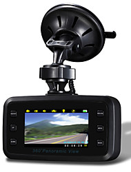 """Dual Camera 2.7"""" TFT 1920X720P AVI Car DVR Camcorder with G-sensor Recyclable Motion Detector"""