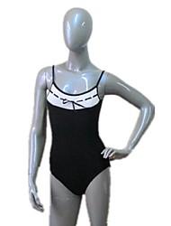 ballet algodón / lycra más leotardos de colores de la camiseta con el frente del bowknot para mujer y niña
