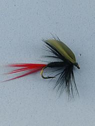12pcs cauda vermelha pode voar a pesca da truta voa tamanho 10 #