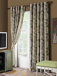 Country Curtains® One Panel Green Vine/Floral Chenille Blackout Curtain