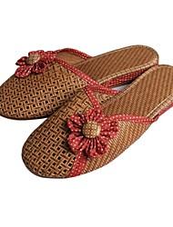 DONNE - Pantofole - Comfort/Punta chiusa - Tacco basso Bambù - Verde/Viola/Rosso