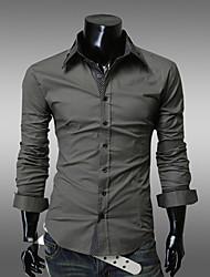 HUIZI Men's Fashion Slim Long Sleeve T-Shirts