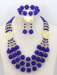 Nigerian Wedding African Beads Jewelry Set Costume Jewelry Sets