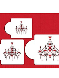 candelabro set stencil, stencils saquê, newestcookie e café stencils, mofo queque decorationtemplate st-348