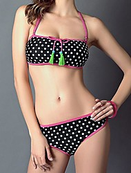 Women Polyester Push-up Halter Bikinis/Tankinis