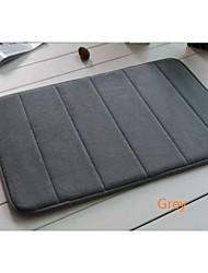Casual Memory Foam  Vertical Stripe Pattern Water Absorption Bay Window 80cm*120cm Bath Rugs
