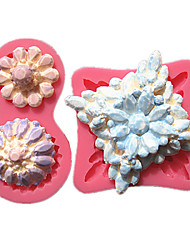 2pc/Set Diamond Shape Pearls And Jewels Fondant Cake Molds Decoration Chocolate Mould For The Kitchen Baking For Sugar