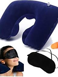 творческих поездок остальные из трех частей (подушка для шеи + тени для век + беруши) (темно-синий)