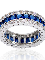 Statement Rings Sapphire Gemstone Zircon Gem Blue Jewelry Wedding Party Daily Casual Sports 1pc