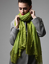 Zizhen Women's Casual Lace Wool Thermal Scarf