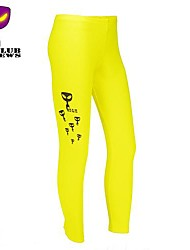 CLUBNEWS™Women's Cotton Yellow Fashion Love Fitness Pattern Sports Legging01