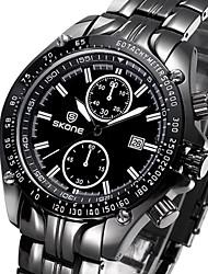SKONG®Brand Fashion Luxury Steel Decoration Dial Men Quartz Watch Business Waterproof Calendar Wristwatch