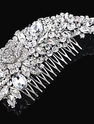 Wedding Bride Flower Austria Rhinestone Silver Combs Hair Accessories