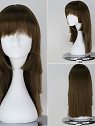 Nisemonogatari Sengoku Nadeko Dark Green Long Straight Girl's wigs cosplay anime wig