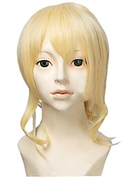 Angelaicos Womens Halloween Lolita Girls Medium Blonde Clip on Ponytail Costume Cosplay Wigs for Lovelive! Ayase Eli