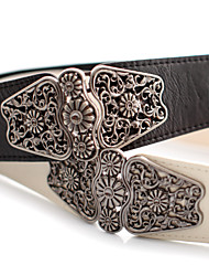 Women PU Waist Belt , Vintage/Cute/Party/Work/Casual Alloy
