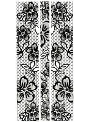 1PC Full Wraps Nail Art Stickers Rose Nail Wraps Black lace Nail Decals Trendy Nail Polish Decorations