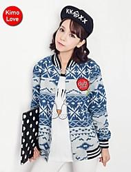 chaqueta kimolove ™ de la mujer delgado coreano de manga larga