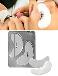 1 Pair Small Individual False Eyelash Gel Pads Eyelash Adhesive Patches Eyelash Extension Pads Makeup Tools