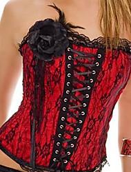 Perle Trim Wine Red Velvet Klassische Lolita Korsett